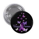 Fibromyalgia Awareness (ribbon & butterflies) 3 Cm Round Badge