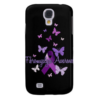 Fibromyalgia Awareness (ribbon & butterflies) Galaxy S4 Case