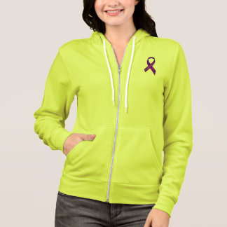 Fibromyalgia Awareness Ribbon Hoodie