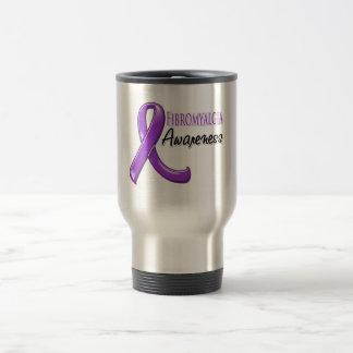 Fibromyalgia Awareness Ribbon Stainless Steel Travel Mug