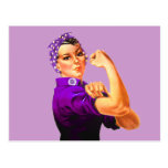 Fibromyalgia Awareness Rosie the Riveter Postcards
