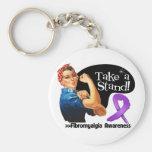 Fibromyalgia Awareness Take a Stand Keychain