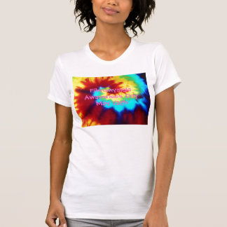 Fibromyalgia Awareness...Tie Dye Look-T-Shirt T-Shirt