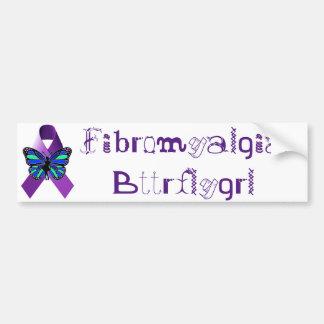 Fibromyalgia Bttrflygrl Bumper Sticker