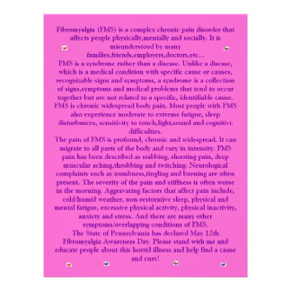 Fibromyalgia Butterflies Flyer
