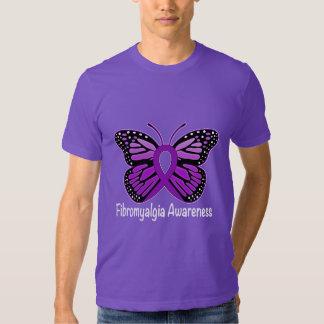 Fibromyalgia Butterfly Awareness Ribbon Shirt