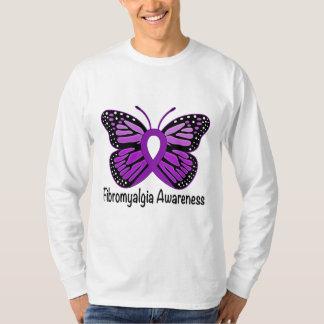 Fibromyalgia Butterfly Awareness Ribbon T-shirts
