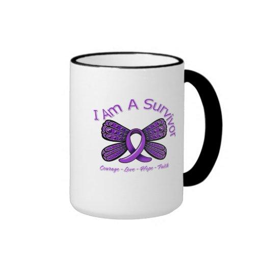 Fibromyalgia  Butterfly I Am A Survivor Coffee Mug