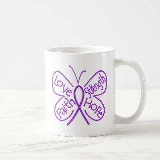 Fibromyalgia Butterfly Inspiring Words Classic White Coffee Mug