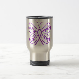 Fibromyalgia Butterfly Inspiring Words Stainless Steel Travel Mug