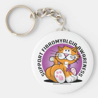 Fibromyalgia Cat Basic Round Button Key Ring