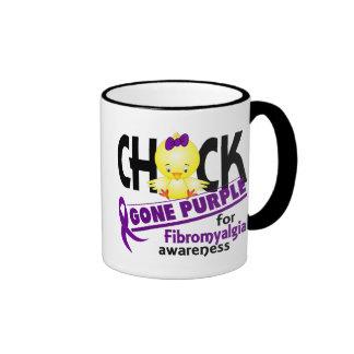 Fibromyalgia Chick Gone Purple 2 Ringer Mug