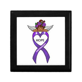 Fibromyalgia Ethnic Hope Angel Jewelry Boxes