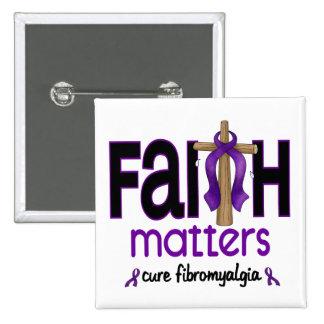 Fibromyalgia Faith Matters Cross 1 15 Cm Square Badge
