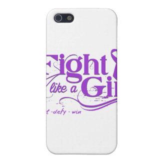 Fibromyalgia Fight Like A Girl Elegant iPhone 5 Case