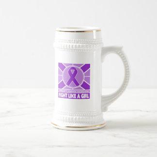 Fibromyalgia Fight Like A Girl Flag Beer Steins