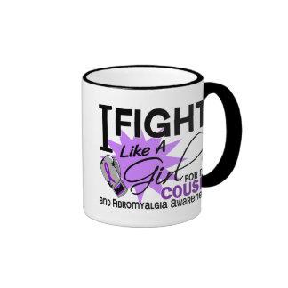 Fibromyalgia Fight Like A Girl For My Cousin 11 Mug