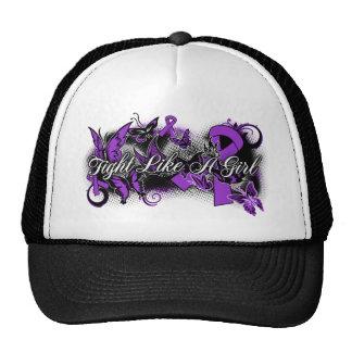 Fibromyalgia Fight Like A Girl Grunge Butterfly Trucker Hat
