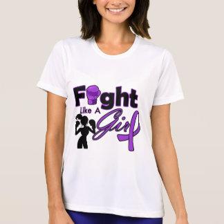 Fibromyalgia Fight Like A Girl Silhouette Tshirt