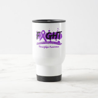 Fibromyalgia FIGHT Supporting My Cause Stainless Steel Travel Mug