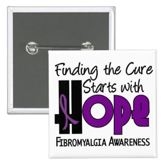 Fibromyalgia HOPE 4 Pinback Button