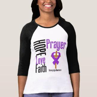 Fibromyalgia Hope Love Faith Prayer Cross T Shirts