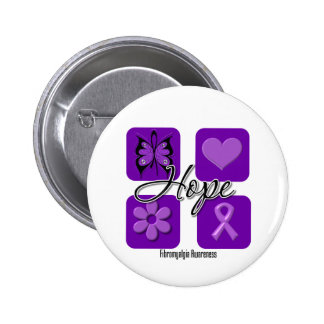Fibromyalgia Hope Love Inspire Awareness Buttons
