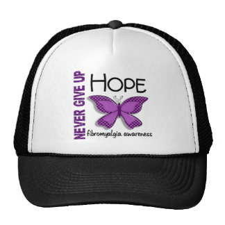 Fibromyalgia Never Give Up Hope Butterfly 4.1 Hats