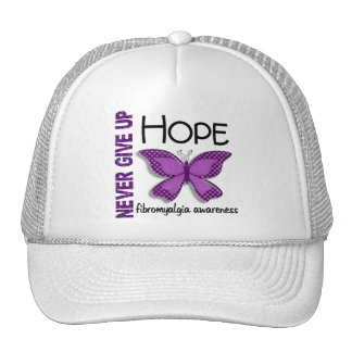 Fibromyalgia Never Give Up Hope Butterfly 4.1 Mesh Hat