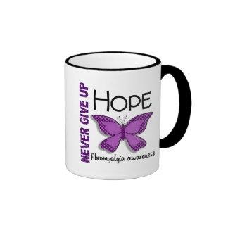 Fibromyalgia Never Give Up Hope Butterfly 4.1 Ringer Mug
