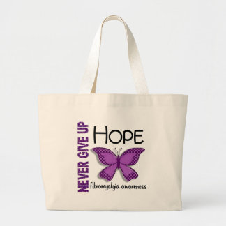 Fibromyalgia Never Give Up Hope Butterfly 4.1 Tote Bag