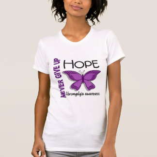Fibromyalgia Never Give Up Hope Butterfly 4.1 Tshirt