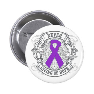 Fibromyalgia Never Giving Up Hope Pinback Button