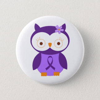 Fibromyalgia Owl 6 Cm Round Badge