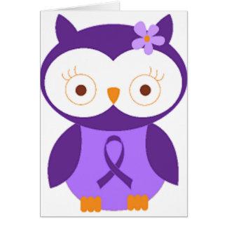 Fibromyalgia Owl Card
