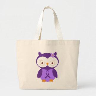 Fibromyalgia Owl Jumbo Tote Bag