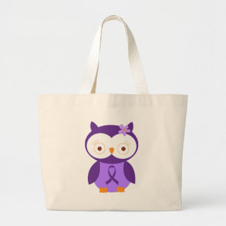 Fibromyalgia Owl Large Tote Bag