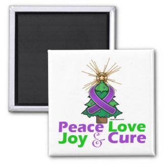 Fibromyalgia Peace Love Joy Cure Fridge Magnet