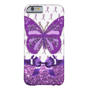Fibromyalgia Purple Awareness Butterfly Ribbon Barely There iPhone 6 Case