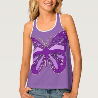 Fibromyalgia Purple Butterfly Awareness Ribbon Tank Top
