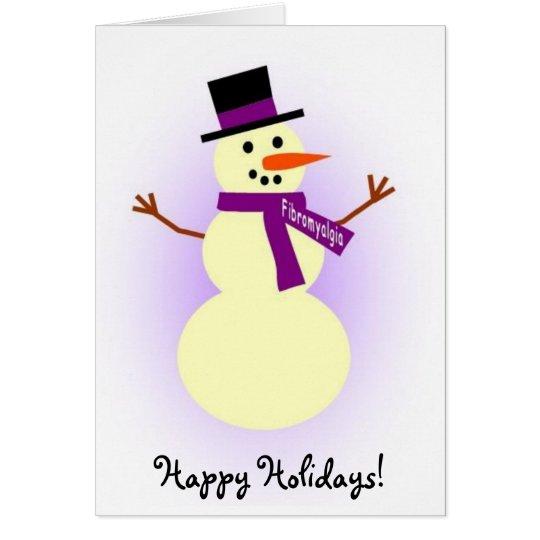 Fibromyalgia Snowman card