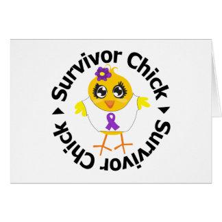 Fibromyalgia Survivor Chick Greeting Card