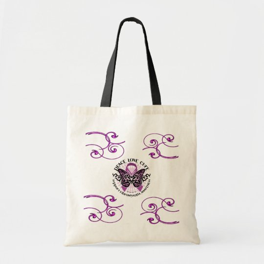 Fibromyalgia Swirls Awareness Tote Bag