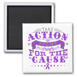 Fibromyalgia Take Action Fight For The Cause Refrigerator Magnet