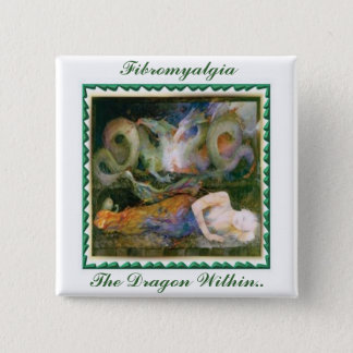 Fibromyalgia, The Dragon Within... 15 Cm Square Badge
