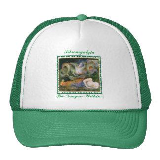 """""""Fibromyalgia, The Dragon Within..."""" Hats"""