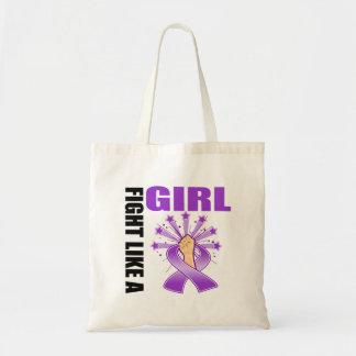 Fibromyalgia Victory Fight Like A Girl Canvas Bag