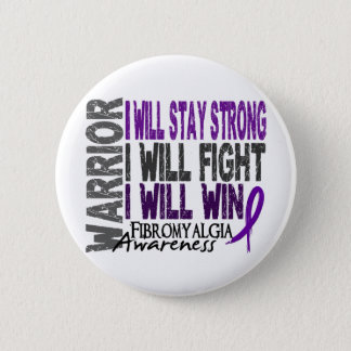 Fibromyalgia Warrior 6 Cm Round Badge
