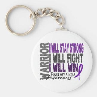 Fibromyalgia Warrior Basic Round Button Key Ring