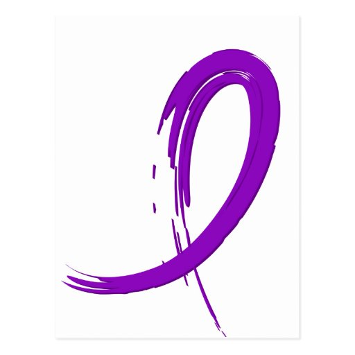 Fibromyalgia's Purple Ribbon A4 Postcards